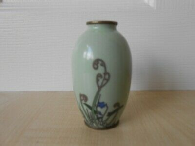 Antique Japanese Silver Wire Miniature Cloisonne Vase 19th/20th Century