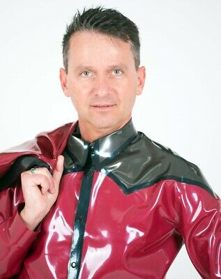 Latex Hemd Shirt Top Catsuit Libidex, L, Gay Lack Leder Rubber Fetisch