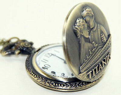 Titanic Pocket Watch Pendant Chain Interesting Unusual Gift Retro Vintage Ship