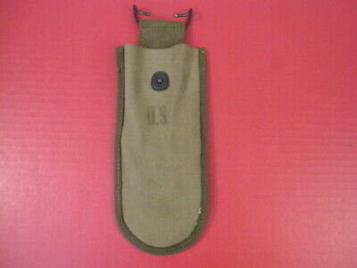 WWII US Army M1938 Canvas Wire Cutter Belt Pouch - Dated 1944 - Khaki - Unissued