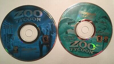 ZOO TYCOON COMPLETE Collection Dino Digs and Marina Mania PC