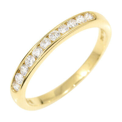 Auth TIFFANY & CO. Diamond 18K Yellow Gold Ring Half Eternity US5 EU49 E1400
