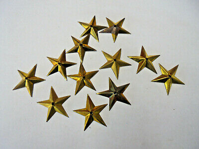 Set of 12 Brass 5 Point Star Case Applications