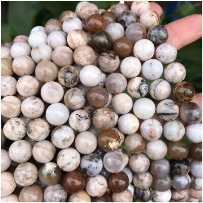8mm Natural Smoky Dendritic Agate Loose Beads Diy Accessories Opaque Shining