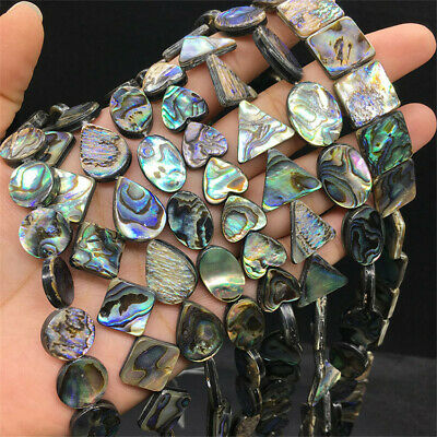 Natural Color Abalone Shell Loose Beads Accessories Diy Opaque Craft Healing