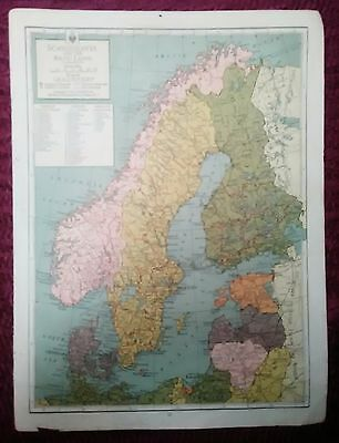 Wwii Era Atlas Page - Scandinavia & The Mediterranean
