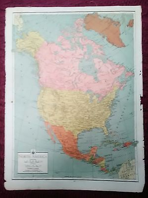 Wwii Era Atlas Page - North America & The World