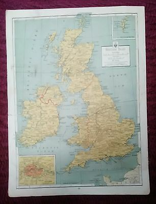 Wwii Era Atlas Page - British Isles & Axis Dominated Europe