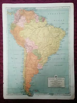 Wwii Era Atlas Page - South America & North Western South America