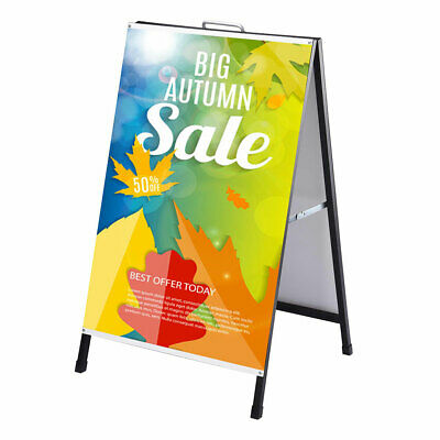 """24""""x 36"""" A Frame Sign Metal Sandwich Dry Erase Board Double Sided Road Side Sign"""