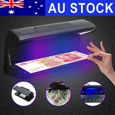 AU UV LED Light Detector Forgery Money Tester AUD Checker Bank Note w/Scale