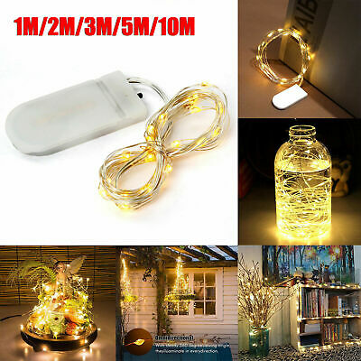 20/30/100LED Battery Micro Rice Wire Copper Fairy String Lights Party Warm White