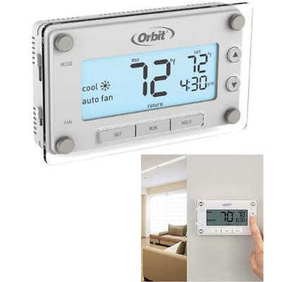 Easy-to-Read Display Orbit 83521 Clear Comfort Programmable Thermostat w// Large
