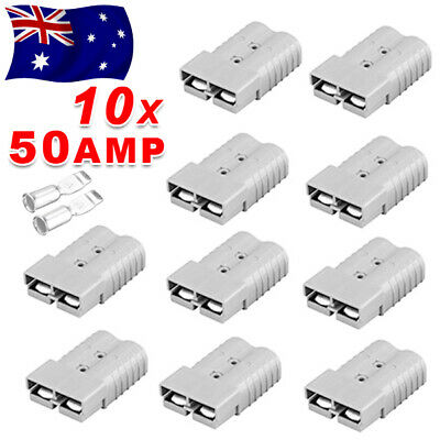 10 x Connectors for Anderson Style Plug DC Power 50 AMP 12-24V 6AWG