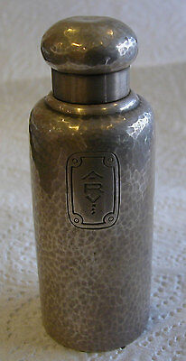 A FINE TIFFANY & Co HAMMERED WORK PERFUME STERLING SILVER HAND HALLMARKED BOTTLE