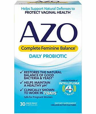 AZO Complete Feminine Balance Women's Daily Probiotic   Clinically ..30 Count