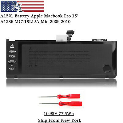 """OEM A1321 Battery For Apple Macbook Pro 15"""" A1286 MC118LL/A Mid 2009 2010 77.5Wh"""