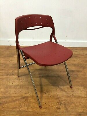 Job Lot 25 Red Polypropylene Folding Outdoor Chairs Banqueting Hall Catering