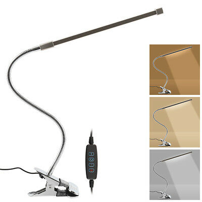 Reading Light Clip On Desk Lamp Flexible USB Clamp LED Craft Table Bedside Hot