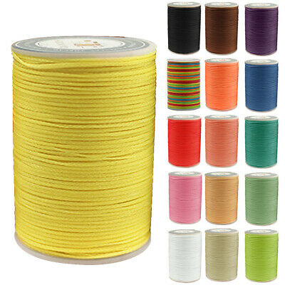 0.8mm Polyester Waxed Thread Cord String Necklace Rope for Jewelry Making DIY UK