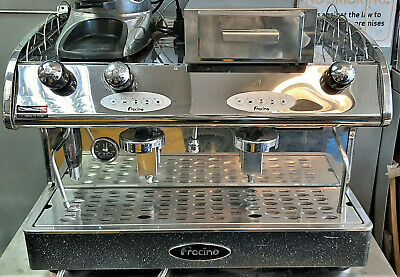 Fracino 2 Group Coffee Machine Romano FR2, K6 Coffee Grinder & Knock Out Drawer
