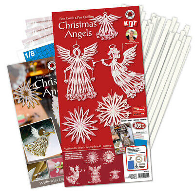 Karen Marie Klip: Christmas Angels Comb & Pen Quilling Kit, White