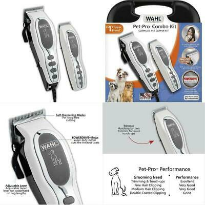Wahl Pet-Pro Dog Clipper And Trimmer Pet Grooming Combo Kit For Dog, Cat With Re