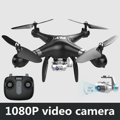 RC Drone Quadcopter With 5MP HD Camera WIFI 6-Axis 4CH Altitude Hold Black