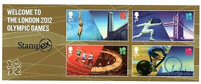 GB 2012 Welcome to London Olympics Stampex overprint miniature sheet MNH stamps