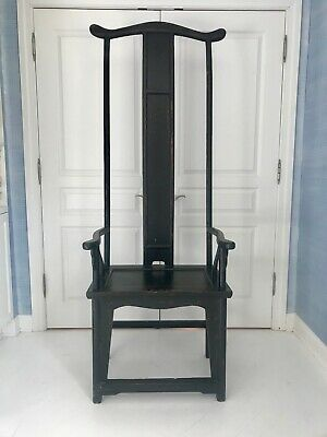 High black throne ming chair