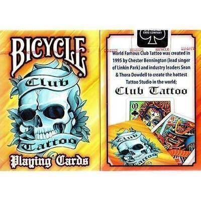 Mazzo di carte Bicycle Club Tattoo Orange playing cards