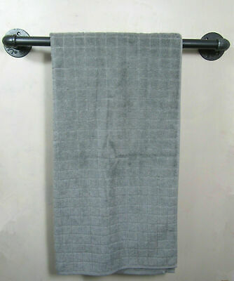 urban industrial pipe retro style rustic iron pipe towel rail Hand made