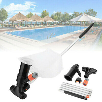 Swimming Pool Spa Jet Vacuum Cleaner Hoover Suction Tool with 5pcs Pole Handle