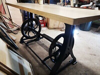 Industrial Antique Dining Table with handmade work top.