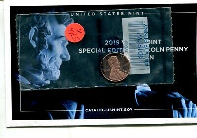 2019 W  Proof Lincoln Head Penny Government Sealed