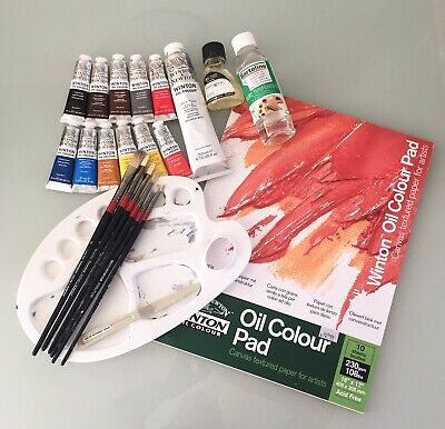 * Oil Painting Set * Starter Kit * Paper, Paints, Brushes, Thinner, Palette