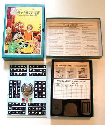 1962 VINTAGE 3M Bookshelf Games PHLOUNDER Action Word Game All Ages 2-6 Players