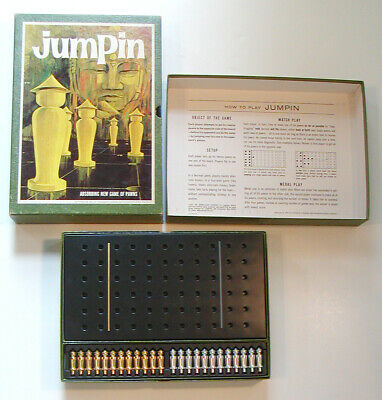 1964 VINTAGE 3M Bookshelf Games JUMPIN Game of Pawns COMPLETE Strategy Board