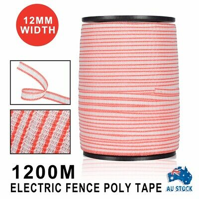 Polytape Roll Poly Tape Electric Fence Energiser Stainless Steel Antirust 1200M