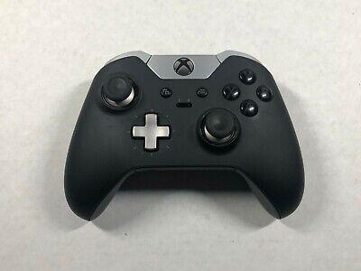 Official Microsoft Xbox One Elite Wireless Controller Black Model 1698 READ DESC