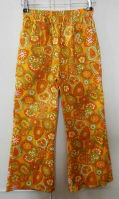 "BN Vintage Late 1960's Kids' Unisex Yellow Flared Trousers 30"" Hip Deadstock"