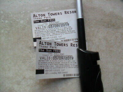 Alton Towers Tickets X 2 September 3Rd