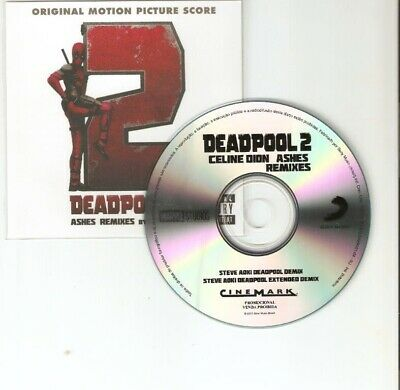 Celine Dion 'Ashes Steve Aoki Remixes' From Deadpool 2 - Rare Cd Promo