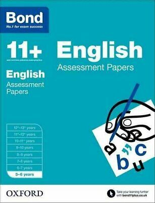 Bond 11+: English: Assessment Papers 5-6 years by Sarah Lindsay 9780192739995