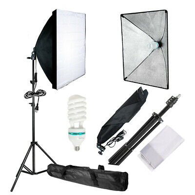 Photography Photo Video Studio Lighting Kit Softbox Stand Soft Box Studio Light