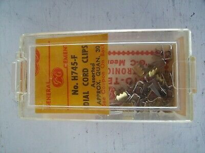 Gc General Cement H745F Radio Dial Cord Clips In Assorted Sizes ~ Nos