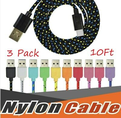 USBC TYPE C USB-C Charging Sync & Charger Cable Cord Samsung Galaxy S8 9 3x/10FT
