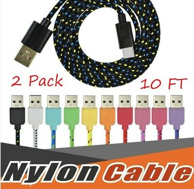 USBC TYPE C USB-C Charging Sync & Charger Cable Cord Samsung Galaxy S8 9 2x/10FT