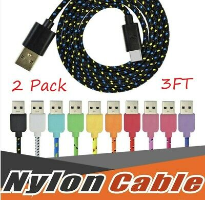 USBC TYPE C USB-C Charging Sync & Charger Cable Cord Samsung Galaxy S8 9 2x/3FT