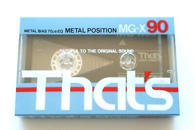 That's Mg-X 90 Metal Position Type Iv Blank Audio Cassette - Japan 1985